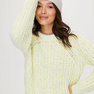 Aritzia Wilfred White Confetti Sweater